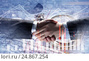 Купить «Working together for better results . Mixed media», фото № 24867254, снято 23 августа 2019 г. (c) Sergey Nivens / Фотобанк Лори