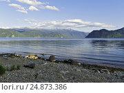 Купить «Телецкое озеро,вид на мыс Куван», фото № 24873386, снято 18 августа 2009 г. (c) Круглов Олег / Фотобанк Лори