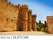 Купить «Old turrets of the Grand Master Palace, Rhodes», фото № 24873586, снято 26 июля 2015 г. (c) Сергей Новиков / Фотобанк Лори