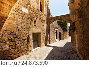 Купить «Medieval avenue of the Knights on Rhodes Island», фото № 24873590, снято 26 июля 2015 г. (c) Сергей Новиков / Фотобанк Лори