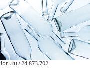 Купить «Large heap of empty wine bottles without labels», фото № 24873702, снято 6 января 2016 г. (c) Сергей Новиков / Фотобанк Лори
