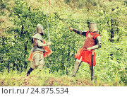 Купить «knights battle», фото № 24875534, снято 5 июня 2010 г. (c) Яков Филимонов / Фотобанк Лори