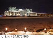 Москва, зима, комплекс зданий Министерства обороны России на Фрунзенской набережной, эксклюзивное фото № 24876866, снято 6 января 2017 г. (c) Dmitry29 / Фотобанк Лори