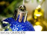 Christmas ball on the pinetree. Стоковое фото, фотограф Михаил Аникаев / Фотобанк Лори