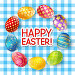 Easter eggs on tablecloth background, иллюстрация № 24883882 (c) Евгения Малахова / Фотобанк Лори