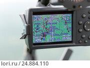 Купить «Навигатор на приборной панели вертолета», фото № 24884110, снято 6 июня 2016 г. (c) Евгений Ткачёв / Фотобанк Лори
