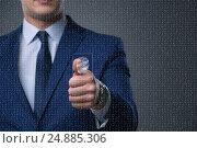 Купить «Biometric identification concept with fingerprints», фото № 24885306, снято 22 августа 2018 г. (c) Elnur / Фотобанк Лори