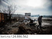 Купить «After the closure of borders by Hungary and Croatia, Serbia was crowded with hundreds refugees stuck in Belgrade. The refugees live in inhuman conditions...», фото № 24886562, снято 16 января 2017 г. (c) age Fotostock / Фотобанк Лори