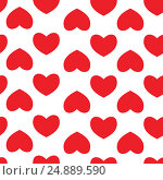 Купить «Seamless pattern with hearts. Background of hearts on Valentine Day. Good for textiles, interior design, for book design, website background.», иллюстрация № 24889590 (c) Anastasia Asnia / Фотобанк Лори