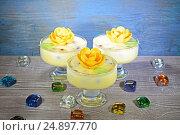 Ванильное мороженое. Стоковое фото, фотограф Ирина Носова / Фотобанк Лори
