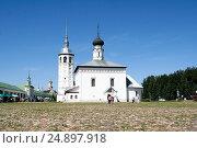 Church of the Resurrection on the trade area, Russia, Suzdal (2014 год). Редакционное фото, фотограф Денис Фоломеев / Фотобанк Лори