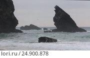 Купить «Atlantic ocean storm, Portugal», видеоролик № 24900878, снято 14 января 2017 г. (c) Юрий Брыкайло / Фотобанк Лори