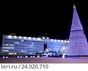 Купить «Дом правительства Сахалинской области», фото № 24920710, снято 17 января 2017 г. (c) Максим Гулячик / Фотобанк Лори