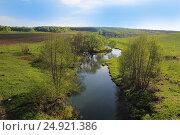 Река Угра в Калужской области, фото № 24921386, снято 9 мая 2014 г. (c) Мила Демидова / Фотобанк Лори