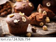 Купить «Nutella cakes.rustic style.», фото № 24926794, снято 22 января 2017 г. (c) Зоряна Ивченко / Фотобанк Лори