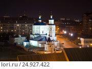 Купить «Церковь святой великомученицы Параскевы Пятницы в ночном пейзаже. Казань», фото № 24927422, снято 1 мая 2016 г. (c) Виктор Карасев / Фотобанк Лори