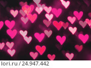 Купить «St Valentines Day heart bokeh background», фото № 24947442, снято 13 января 2017 г. (c) Зезелина Марина / Фотобанк Лори