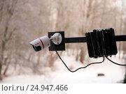 Купить «Камера наружного видеонаблюдения», эксклюзивное фото № 24947466, снято 17 января 2017 г. (c) Svet / Фотобанк Лори