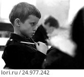 Купить «Ученики за партами в школьном классе», фото № 24977242, снято 22 ноября 2019 г. (c) Борис Кавашкин / Фотобанк Лори