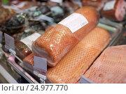 Купить «ham at grocery store stall», фото № 24977770, снято 2 ноября 2016 г. (c) Syda Productions / Фотобанк Лори