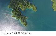 Aerial view on Cheow Lan Lake, Thailand (2017 год). Стоковое видео, видеограф Михаил Коханчиков / Фотобанк Лори