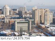 Вид с верху на центральную часть города Волгограда (2016 год). Стоковое фото, фотограф Андрей Ижаковский / Фотобанк Лори
