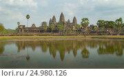 Купить «Angkor Wat temple in Siem Reap, Cambodia», видеоролик № 24980126, снято 7 декабря 2016 г. (c) Михаил Коханчиков / Фотобанк Лори