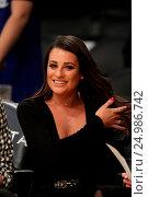 Купить «Celebrities watch the Los Angeles Lakers play The Golden State Warriors Featuring: Lea Michele Where: Los Angeles, California, United States When: 05 Jan 2016 Credit: WENN.com», фото № 24986742, снято 5 января 2016 г. (c) age Fotostock / Фотобанк Лори
