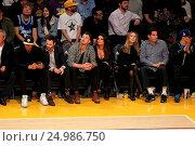 Купить «Celebrities watch the Los Angeles Lakers play The Golden State Warriors Featuring: Lea Michele, Matthew Paetz Where: Los Angeles, California, United States When: 05 Jan 2016 Credit: WENN.com», фото № 24986750, снято 5 января 2016 г. (c) age Fotostock / Фотобанк Лори
