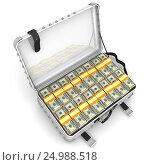 Купить «Чемодан полный денег», иллюстрация № 24988518 (c) WalDeMarus / Фотобанк Лори
