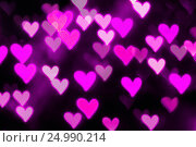 Купить «St Valentines Day heart bokeh background», фото № 24990214, снято 13 января 2017 г. (c) Зезелина Марина / Фотобанк Лори