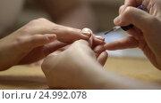 Купить «Beautiful manicure close up», видеоролик № 24992078, снято 20 января 2020 г. (c) Raev Denis / Фотобанк Лори