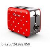 Купить «Vintage toaster isolated on white 3D illustration», иллюстрация № 24992850 (c) Hemul / Фотобанк Лори