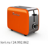 Купить «Vintage toaster isolated on white 3D illustration», иллюстрация № 24992862 (c) Hemul / Фотобанк Лори