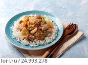 Блюдо японской кухни- курица терияки. Стоковое фото, фотограф Julia Ovchinnikova / Фотобанк Лори