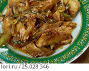 Купить «Thai Stir Fry Chicken», фото № 25028346, снято 31 января 2017 г. (c) Александр Fanfo / Фотобанк Лори