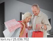 Купить «Digital composite of loving couple», фото № 25036702, снято 26 июня 2019 г. (c) Wavebreak Media / Фотобанк Лори