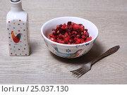 Купить «Винегрет на столе», эксклюзивное фото № 25037130, снято 30 января 2017 г. (c) Яна Королёва / Фотобанк Лори