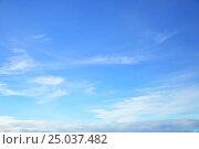 Купить «Almost clear blue sky», фото № 25037482, снято 26 января 2017 г. (c) Роман Сигаев / Фотобанк Лори