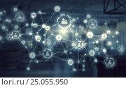 Купить «Social Networks and interaction concept . Mixed media», иллюстрация № 25055950 (c) Sergey Nivens / Фотобанк Лори