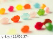 Купить «close up of jelly beans candies on table», фото № 25056374, снято 16 сентября 2015 г. (c) Syda Productions / Фотобанк Лори