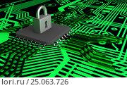 The concept of electronic security. Data encryption., фото № 25063726, снято 26 февраля 2017 г. (c) Александр Якимов / Фотобанк Лори