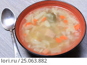 Купить «Суп», эксклюзивное фото № 25063882, снято 2 февраля 2017 г. (c) Яна Королёва / Фотобанк Лори
