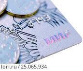 Купить «Пластиковая карта МИР НСПК», фото № 25065934, снято 5 февраля 2017 г. (c) SevenOne / Фотобанк Лори