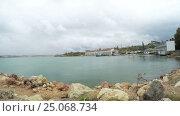 Купить «Panorama views of Sevastopol bay», видеоролик № 25068734, снято 29 октября 2016 г. (c) Потийко Сергей / Фотобанк Лори