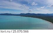 Купить «Aerial panorama of cape and sea in Thailand», видеоролик № 25070566, снято 28 января 2017 г. (c) Михаил Коханчиков / Фотобанк Лори