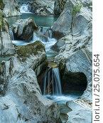 Купить «Groppensteinschlucht (gorge), Obervellach, Mölltal, Carinthia, Austria», фото № 25075654, снято 26 августа 2016 г. (c) mauritius images / Фотобанк Лори