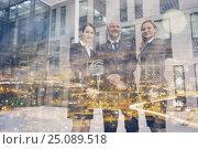 Купить «Confident businesspeople standing in office premises», фото № 25089518, снято 18 июня 2019 г. (c) Wavebreak Media / Фотобанк Лори