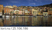 Купить «Boats moored at the harbourside in Villefranche, France.», фото № 25106186, снято 22 июля 2019 г. (c) Nature Picture Library / Фотобанк Лори