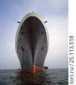 "Купить «Bow view of Cunard's cruise liner the ""Queen Elizabeth II"" (QEII), at anchor.», фото № 25113518, снято 24 сентября 2018 г. (c) Nature Picture Library / Фотобанк Лори"
